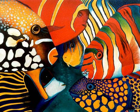 Conference sous la mer/Painting/Giclée