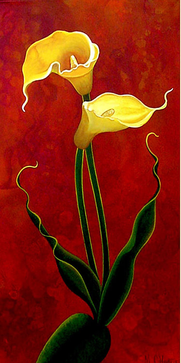 Yellow Calla/ Canvas painting/reprofuction/Giclee