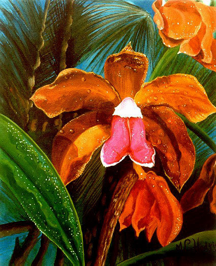 Cattleya/Canvas/ Painting/ Large canvas/ Reproduction