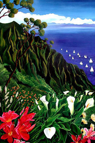 Hawaii/ Giclée/Canvas Painting/Reproduction