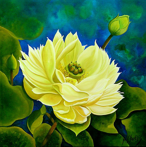 Lotus Sweetheart/Canvas Painting/ Giclée/Reproduction