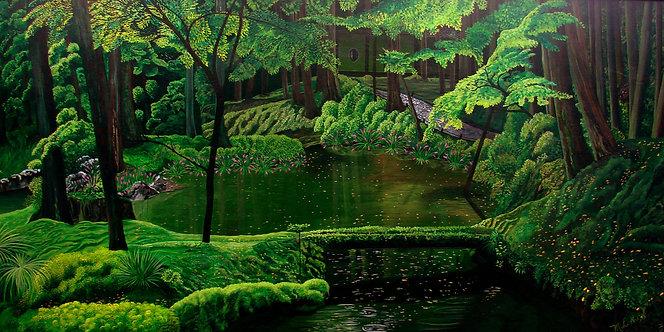 Japanese garden/Giclée/Canvas Painting/Reproduction