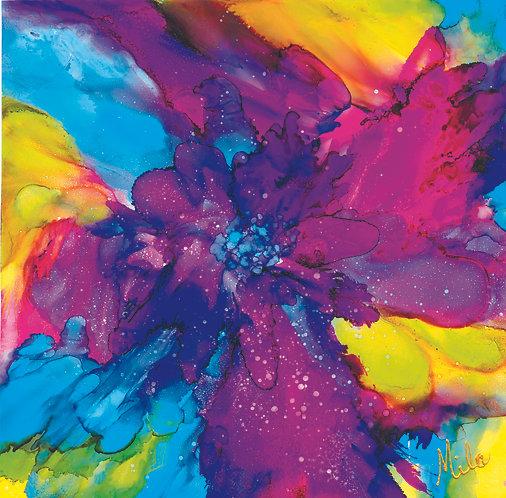 Fushia Fusion/Canvas Painting/ Giclée/Reproduction