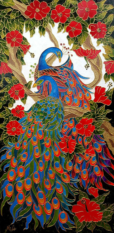 Majestic Peacocks/ Peacock Giclée Print / Peacocks Art
