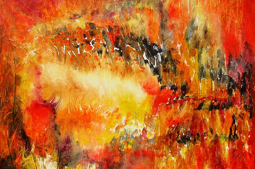 Quest for fire/ Painting/ Large canvas/ Reproduction