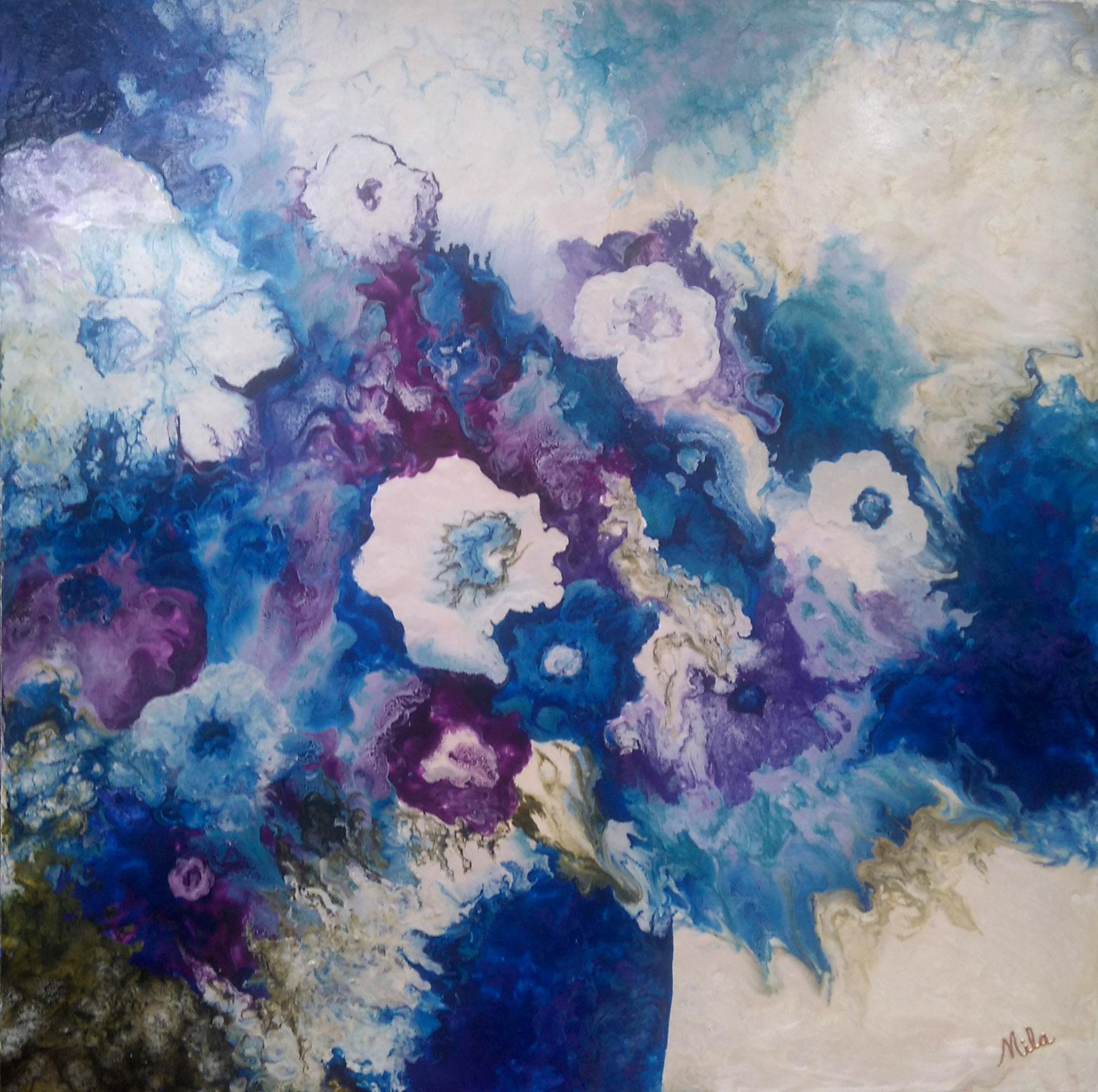 Blue Gardenia-24x24