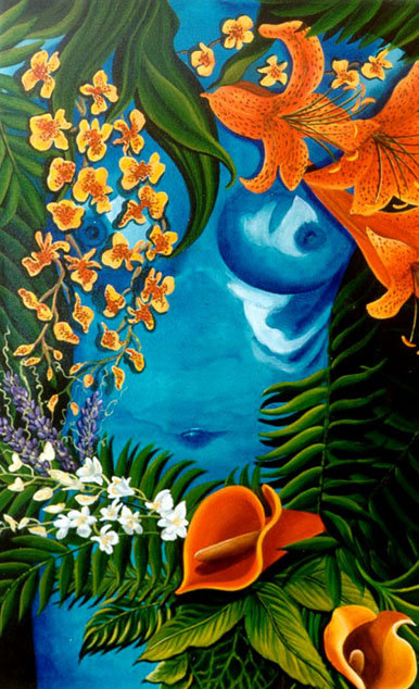 Lost in the Blues/Canvas Painting/ Large canvas/ Reproduction