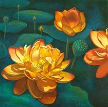 Lotus Fiesta/Canvas Painting/ Giclée/Reproduc