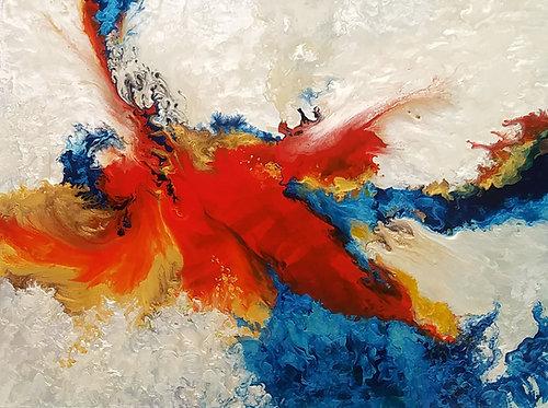 Phoenix on Fire/Painting/Giclée