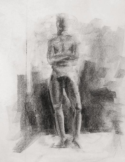 Hubert Warter - Zeichnung - Akt - Aktzeichnung - Kohle - drawing - nude - nude drawing - carbon