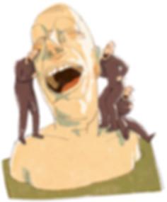Hubert Warter - Illustration - Freudentränen - Tränen - lachen - zusammen lachen - Witz - tears of joy - tears - laugh - laughing together - joke