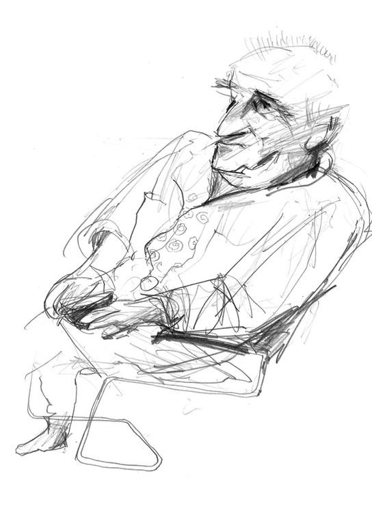 Hubert Warter - Zeichnung - Bleistift - Portrait