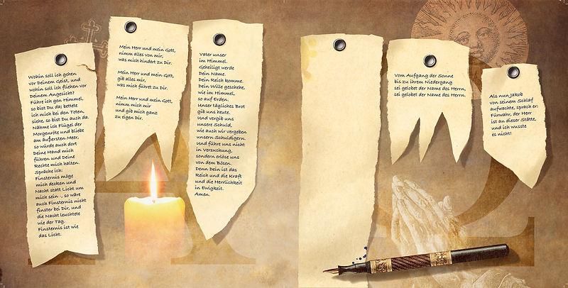 Hubert Warter - Illustration - schreiben - Füller - beten - Gebet - Kerze - writing - pen - pray - prayer - candle
