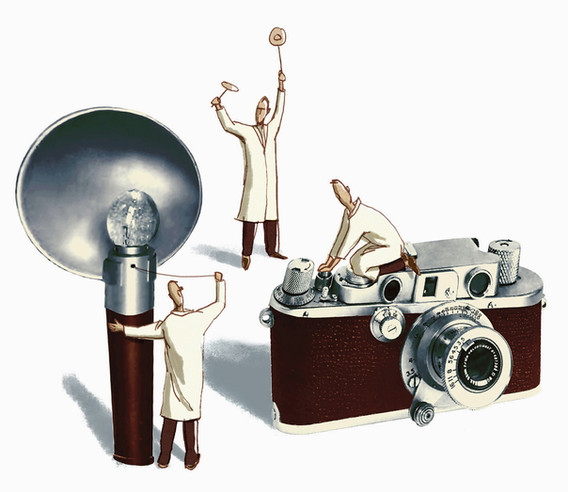 Hubert Warter - Illustration - photography - flash - flash sync - Leica