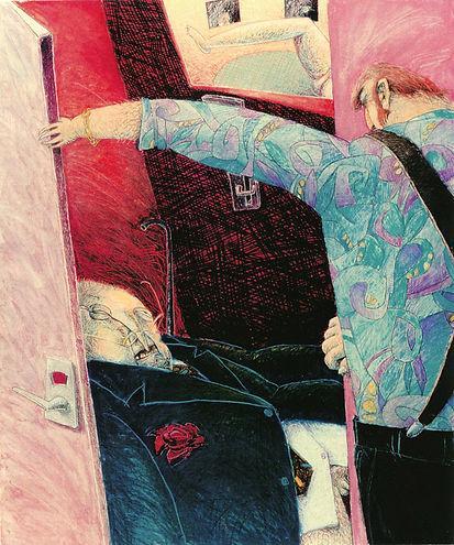Hubert Warter - Illustration - Zeichnung - grotesk - Chaos - Peep Show - tot - drawing - grotesque - chaos - peep show - dead