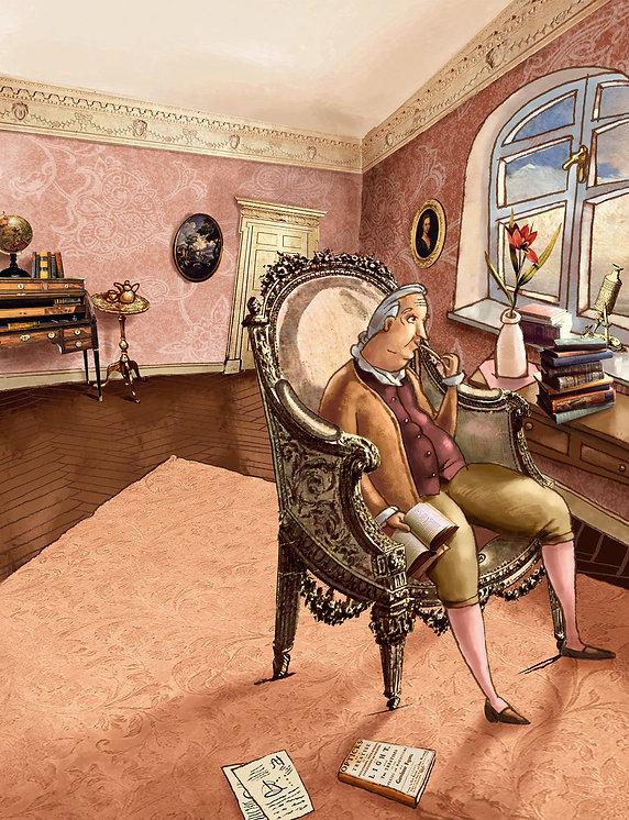 Hubert Warter - Illustration - Newton