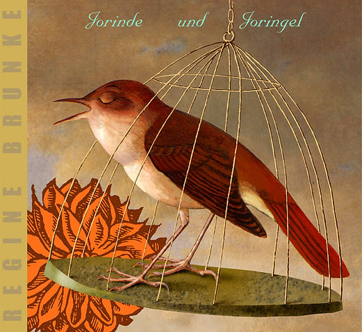 Hubert Warter - Illustration - CD - Vogel - Käfig - Vogelkäfig - eingesperrt - Jorinde und Joringel - Bird - Cage - Birdcage - locked up - Jorinde and Joringel