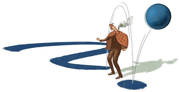 Illustration - Sherlock Holmes - Kugelschreiber - ballpoint - Biro