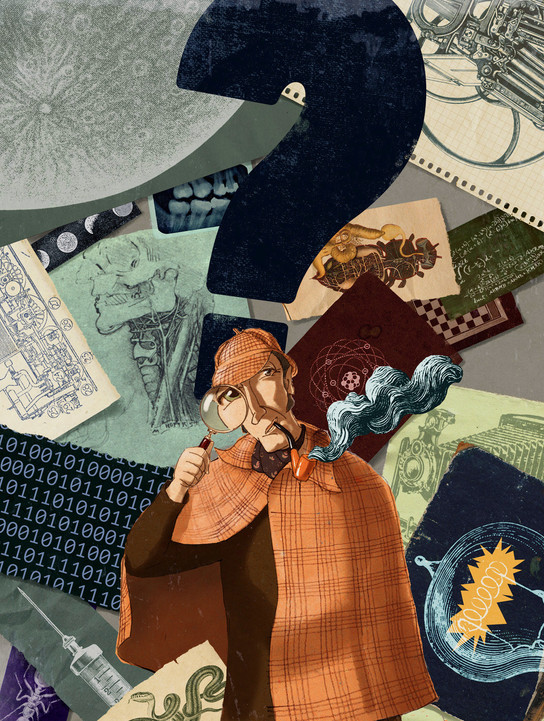 Hubert Warter - Illustration - Sherlock Holmes - Wissenschaft - science