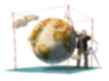 Hubert Warter - Illustration - Welt - Erde - Vermessung - World - Earth - Surveying - Everest