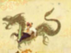 Hubert Warter - Illustration - China - Chinese - Chinesischer Drache - Drache - Maske - Chinese dragon - dragon - mask