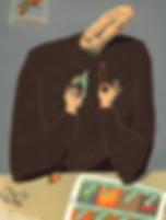 Hubert Warter - Illustration - Mann - Spiel - Computerspiel - Satire - man - game - computer game - satire