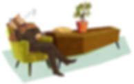 Illustration - Sherlock Holmes - Siegmund Freud - coffin