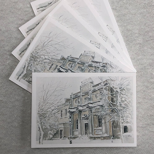 Winter, Pitzhanger Manor - A6 Cards - Pack of 5 (Landscape)