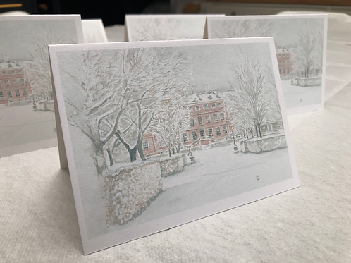 Winter, Ham House - A6 Card Individual (Landscape)