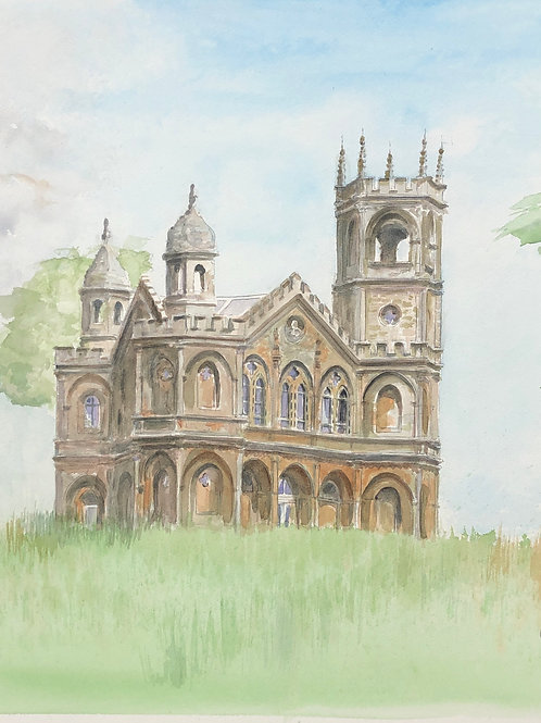 Stowe, Gothic Temple - A6 Cards - Pack of 5 (Portrait)