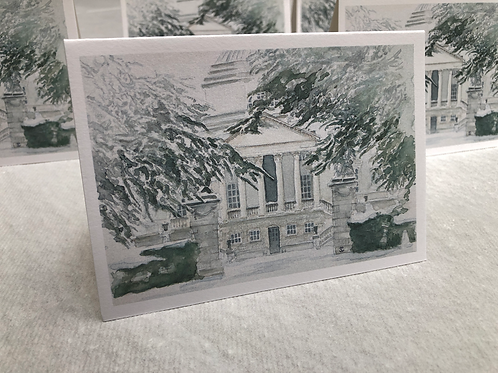 Winter, Chiswick House - A6 Card Individual (Landscape)