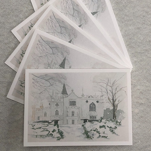 Winter, Strawberry Hill House - A6 Cards - Pack of 10 (Landscape)