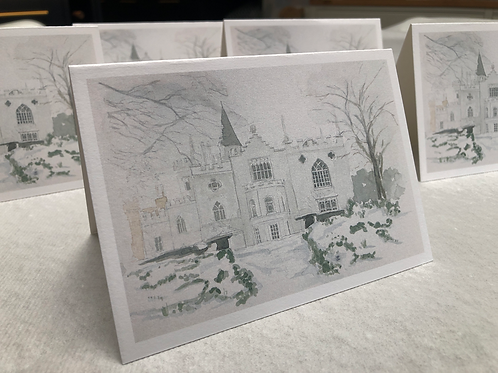 Winter, Strawberry Hill House - A6 Card Individual (Landscape)