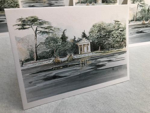 Winter, Gunnersbury Park - A6 Card Individual (Landscape)