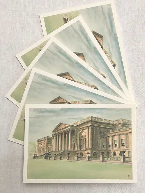 Stowe, South Front - A6 Cards - Pack of 10 (Landscape)
