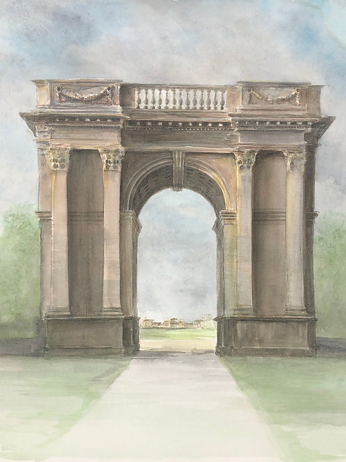 Stowe, Corinthian Arch - A6 Cards - Pack of 5 (Portrait)