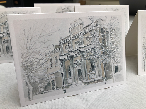 Winter, Pitzhanger Manor - A6 Card Individual (Landscape)
