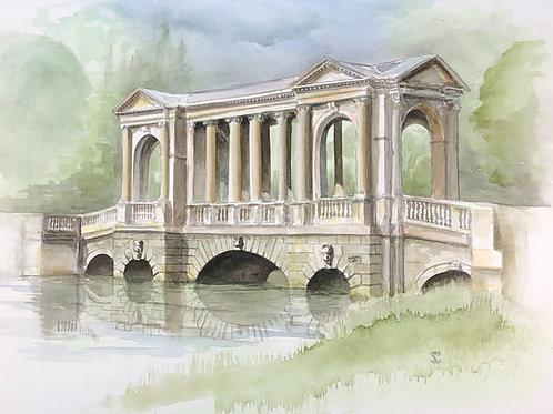 Stowe, Palladian Bridge - A6 Cards - Pack of 5 (Landscape)