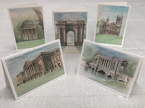 Stowe Collection - A6 Cards - Pack of 5