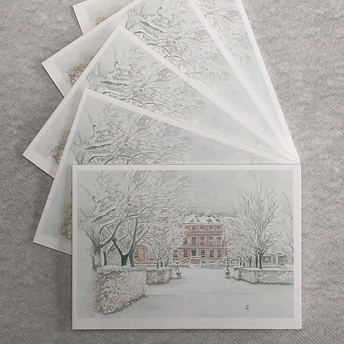 Winter, Ham House - A6 Cards - Pack of 10 (Landscape)
