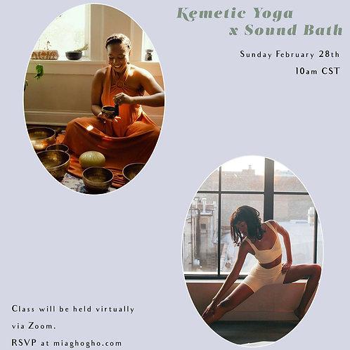 Feb 28. Kemetic Flow x Sound Bath Virtual Class