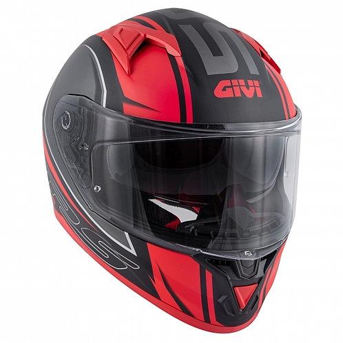 CASCON MOTO INTEGRALE  GIVI 50.6 BLADES MATT BLACK RED