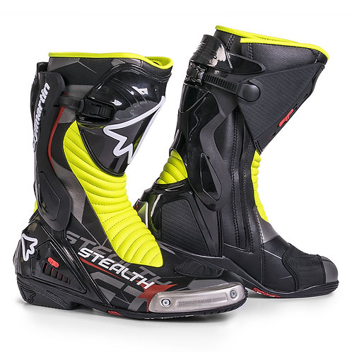 STIVALI MOTO RACING STEALTH EVO  BLACK-YELLOW FLUO  STYLMARTIN