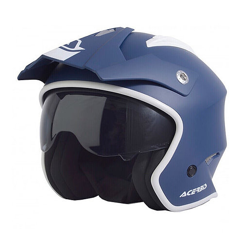 CASCO MOTO JET ARIA ACERBIS  BLUE