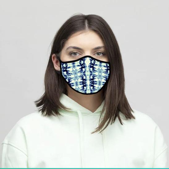 Tie Dye Blues Face Mask for Contrado