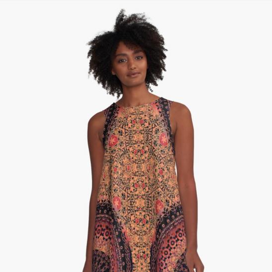 Spice Mandala A-Line Dress