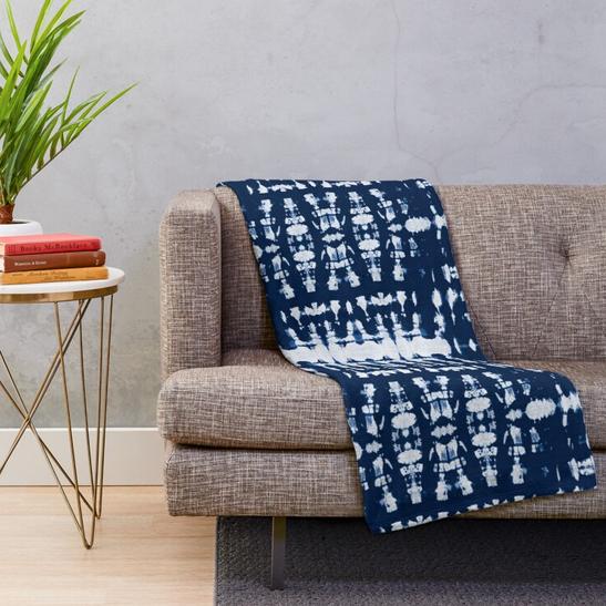 Kumo Indigo Shibori Blanket