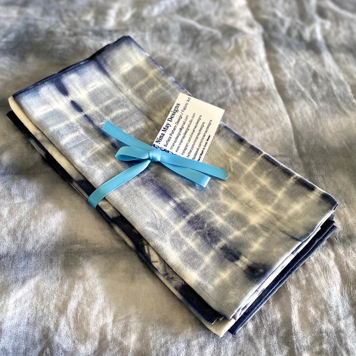 Blue Shibori Vinatge Napkin Assortment