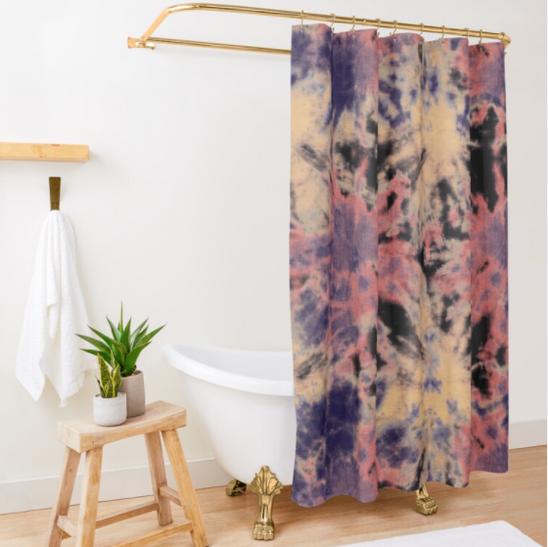 Tie-Dye Bloom Shower Curtain