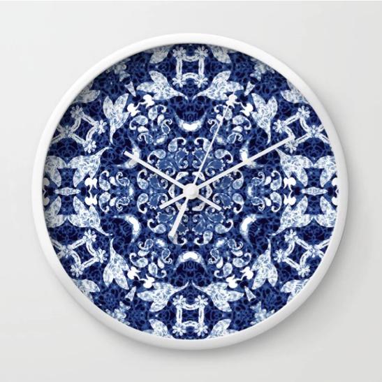 Boho Blue Medallion Mandala